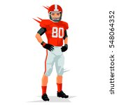american football player.... | Shutterstock .eps vector #548064352