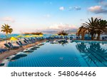 nice view on the swimming pool... | Shutterstock . vector #548064466