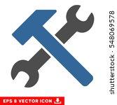 hammer and wrench eps vector... | Shutterstock .eps vector #548069578