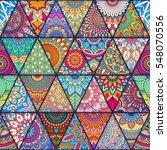 seamless mandalas pattern.... | Shutterstock .eps vector #548070556