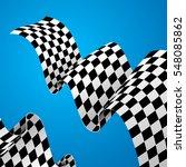checkered racing flag... | Shutterstock .eps vector #548085862