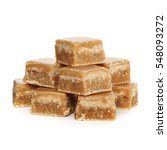 caramel fudge on white... | Shutterstock . vector #548093272