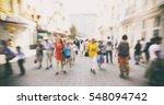 lots of people are walking | Shutterstock . vector #548094742