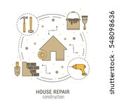 house repair round concept made ... | Shutterstock .eps vector #548098636