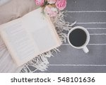 relax coffee cup of hot drink...   Shutterstock . vector #548101636