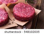 organic raw ground beef  round... | Shutterstock . vector #548102035