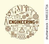 engineering minimal thin line... | Shutterstock .eps vector #548111716