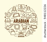 arabian minimal thin line icons ...   Shutterstock .eps vector #548112226