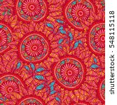 vector seamless pattern in boho ... | Shutterstock .eps vector #548115118