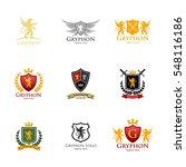 gryphon medieval logo design....