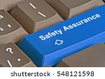 keyboard with key for safety... | Shutterstock . vector #548121598