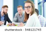 business woman with her staff ... | Shutterstock . vector #548121745