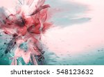 Stock photo artistic lilies bouquet raster illustration 548123632