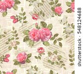 seamless vintage floral torn... | Shutterstock .eps vector #548124688