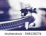 hip hop dj turn table vinyl... | Shutterstock . vector #548128276