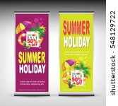roll up summer banner | Shutterstock .eps vector #548129722