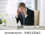 young shocked businessman... | Shutterstock . vector #548132062