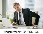 irritated young businessman at...   Shutterstock . vector #548132266