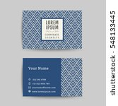 business card art deco design... | Shutterstock .eps vector #548133445