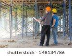 construction concepts  engineer ... | Shutterstock . vector #548134786