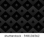Black Seamless Pattern Fabric...