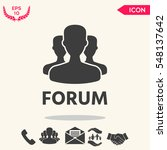 forum button | Shutterstock .eps vector #548137642