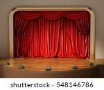 theater stage with closed red... | Shutterstock . vector #548146786
