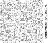 seamless pattern of hand drawn... | Shutterstock . vector #548151376