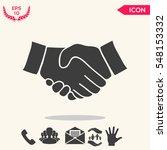 handshake symbol | Shutterstock .eps vector #548153332