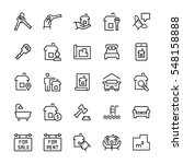 simple icon set of real estate... | Shutterstock .eps vector #548158888