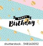 happy birthday. typography for... | Shutterstock .eps vector #548163052
