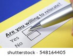 are you willing to relocate  yes | Shutterstock . vector #548164405