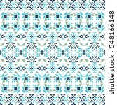 ethnic seamless pattern with... | Shutterstock .eps vector #548166148