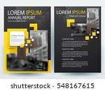 abstract vector modern flyers... | Shutterstock .eps vector #548167615