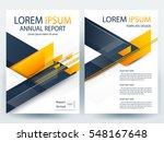 abstract vector modern flyers... | Shutterstock .eps vector #548167648