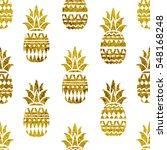pineapple seamless pattern...   Shutterstock .eps vector #548168248