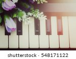 Piano Keyboard And Flower ...