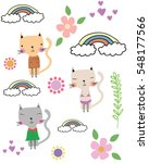 cats | Shutterstock .eps vector #548177566