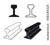 steel train rail track profile...   Shutterstock .eps vector #548184325
