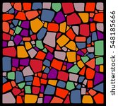 colorful vector mosaic... | Shutterstock .eps vector #548185666