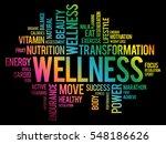 wellness word cloud  fitness ... | Shutterstock .eps vector #548186626