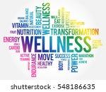 wellness word cloud  fitness ... | Shutterstock .eps vector #548186635