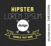 hipster poster design template | Shutterstock .eps vector #548193346