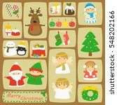 vector set of christmas... | Shutterstock .eps vector #548202166