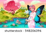 portrait of a young fairy in a... | Shutterstock .eps vector #548206396