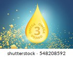 gold drop of omega 3. the... | Shutterstock .eps vector #548208592