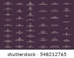 vintage decor elements and... | Shutterstock .eps vector #548212765