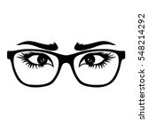 glasses with nice eyes. vector... | Shutterstock .eps vector #548214292