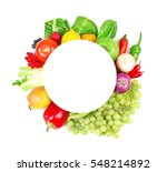 sheet of paper and colourful... | Shutterstock . vector #548214892