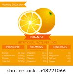 orange health benefits. vector... | Shutterstock .eps vector #548221066